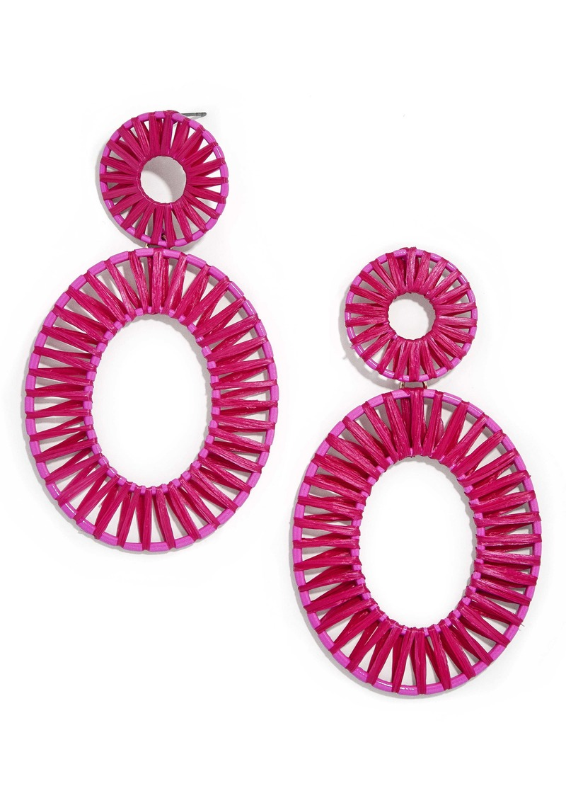 BaubleBar Kiera Raffia Drop Earrings