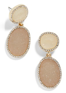 BaubleBar Krystal Faux Druzy Drop Earrings