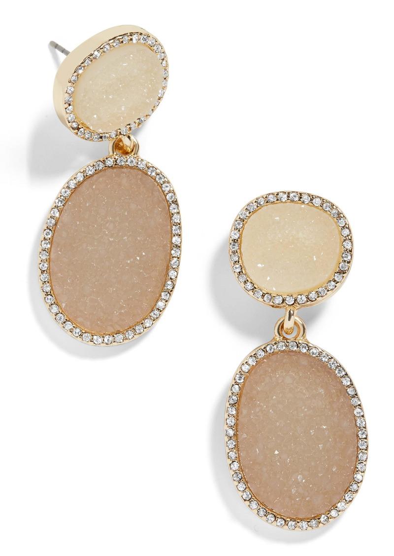 BaubleBar Krystal Faux Druzy Drop Earrings