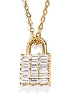 BaubleBar Kwan Lock Pendant Necklace
