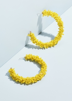 BaubleBar Large Beaded Hoop Earrings