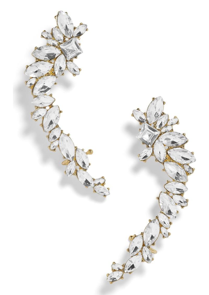 BaubleBar Eliza Large Crystal Crawler Earrings