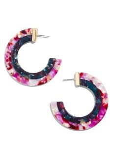 BaubleBar Layered Color Resin Hoop Earrings