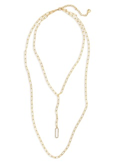 BaubleBar Layered Link Necklace
