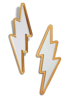 BaubleBar Lightning Bolt Mirror Earrings