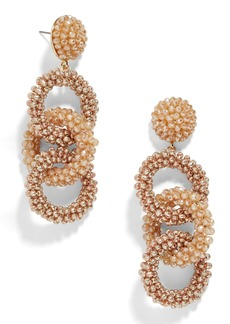 BaubleBar Link Beaded Drop Earrings