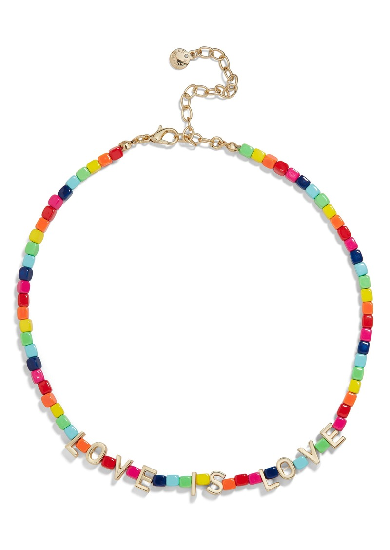 BaubleBar Love Is Love Beaded Necklace