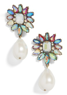 BaubleBar Lovisa Flower Imitation Pearl Drop Earrings