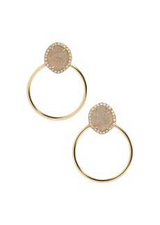 BAUBLEBAR Lutana Druzy Hoop Earrings
