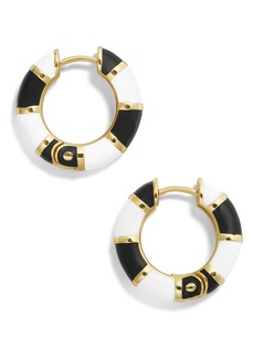 BaubleBar Manila Enamel Small Hoop Earrings