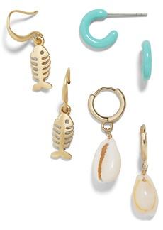 Baublebar Marine Set of 3 Earrings