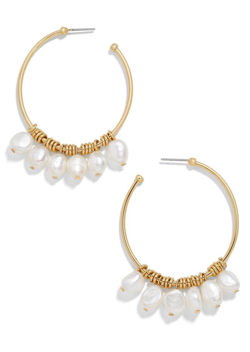 BaubleBar Marquita Keshi Pearl Hoop Earrings