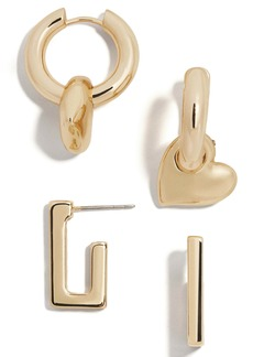 BaubleBar Mercury Set of 2 Huggie Hoop Earrings
