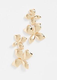 BaubleBar Metal Petals Flower Earrings