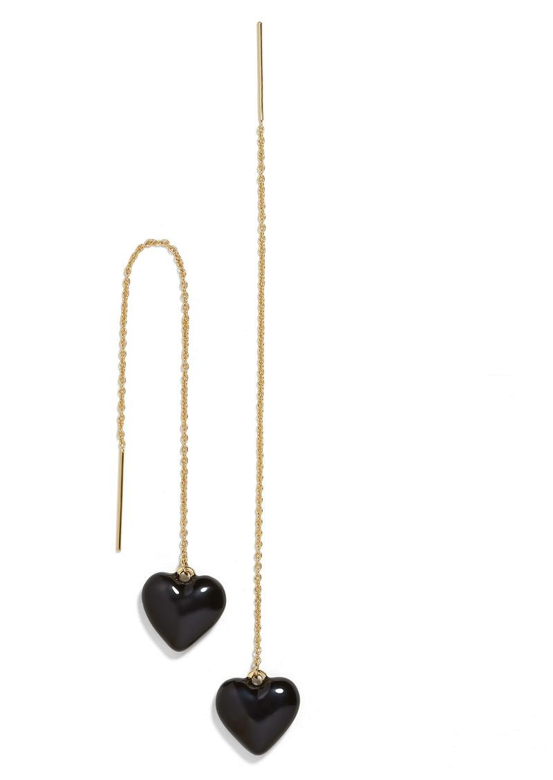 BaubleBar Neina Enamel Heart Threader Earrings