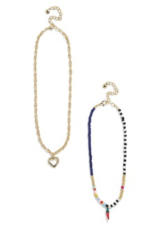 BaubleBar Nicoleta Set of 2 Pendant Necklaces