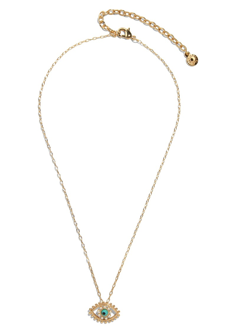 BaubleBar Ojo Evil Eye Pendant Necklace