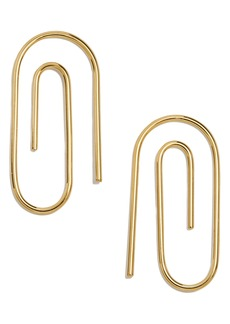 BaubleBar Paperclip Earrings