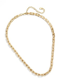 BaubleBar Pavé Box Link Necklace