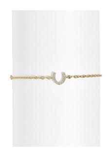 BaubleBar Pavé Horseshoe Bracelet