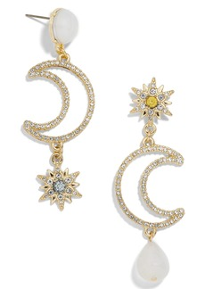 BaubleBar Pavé Star & Moon Drop Earrings