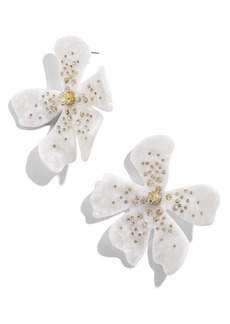 BaubleBar Perla Resin Flower Earrings