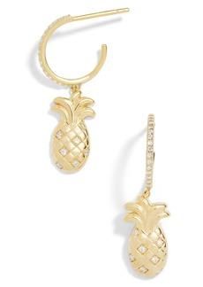 BaubleBar Pineapple Charm Huggies