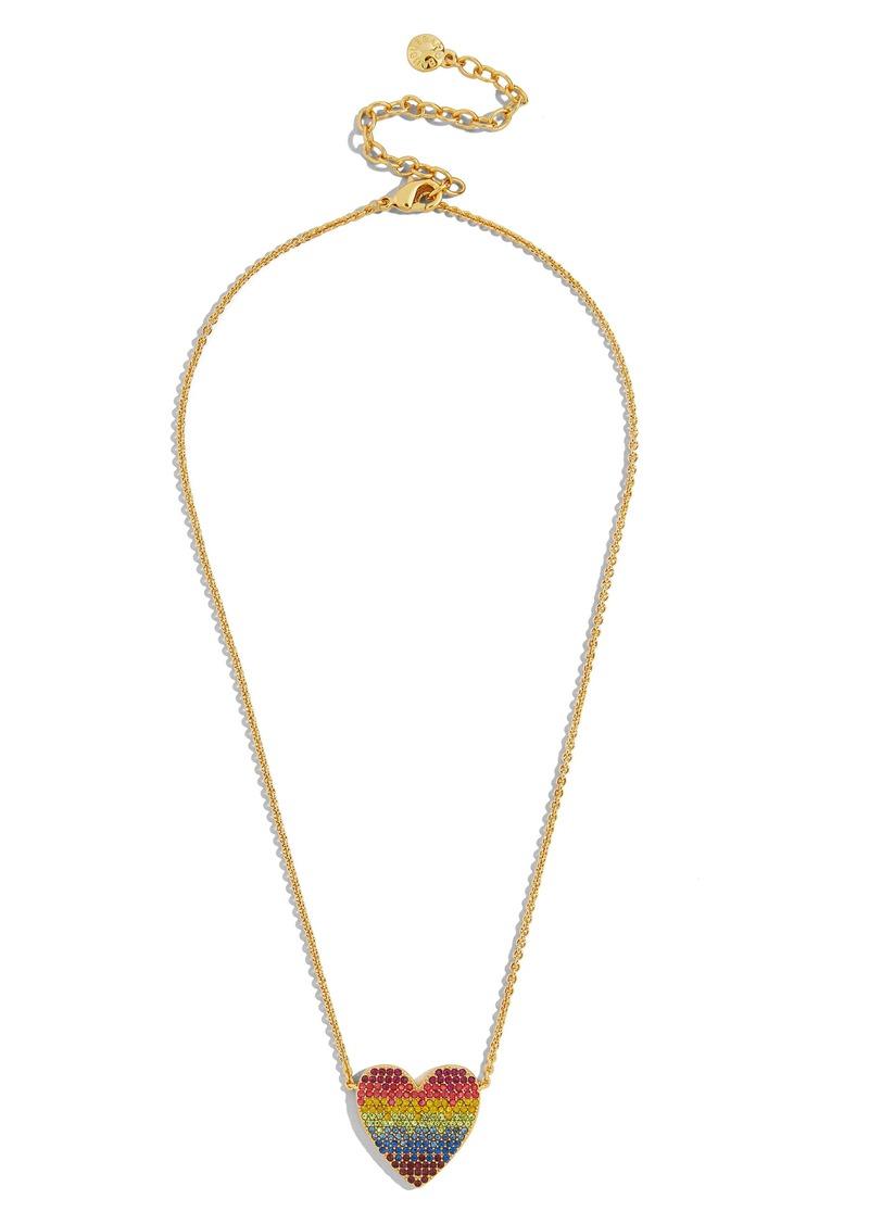 BaubleBar Rainbow Heart Necklace