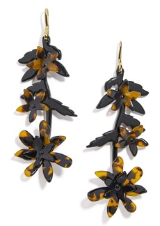 BaubleBar Resin Flower Drop Earrings