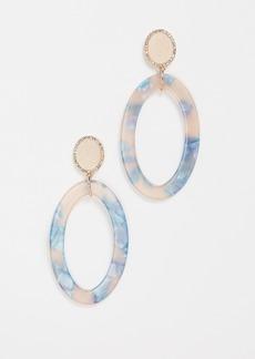 BaubleBar Triana Hoop Resin Earrings