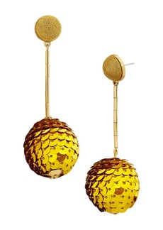 BAUBLEBAR Sequin Ball Drop Earrings