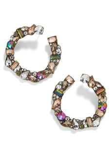 BaubleBar Seraphine Crystal Wraparound Hoop Earrings