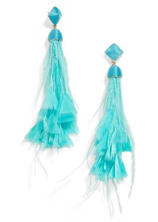 BaubleBar Sesilia Feather Drop Earrings