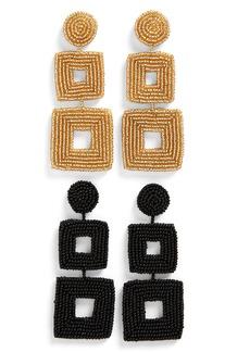 BaubleBar Set of 2 Drop Earrings