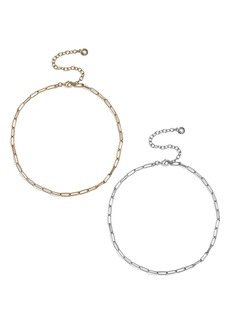 BaubleBar Set of 2 Small Hera Link Necklaces