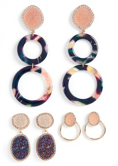 BaubleBar Set of 3 Hoop & Drop Earrings