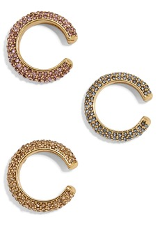 BaubleBar Set of 3 Selena Pavé Ear Cuffs