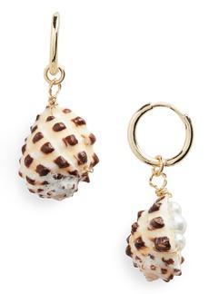 BaubleBar Seychelles Shell Drop Earrings