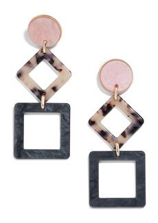 BaubleBar Sharette Geometric Drop Earrings