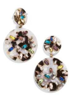 BaubleBar Shari Crystal & Resin Drop Earrings