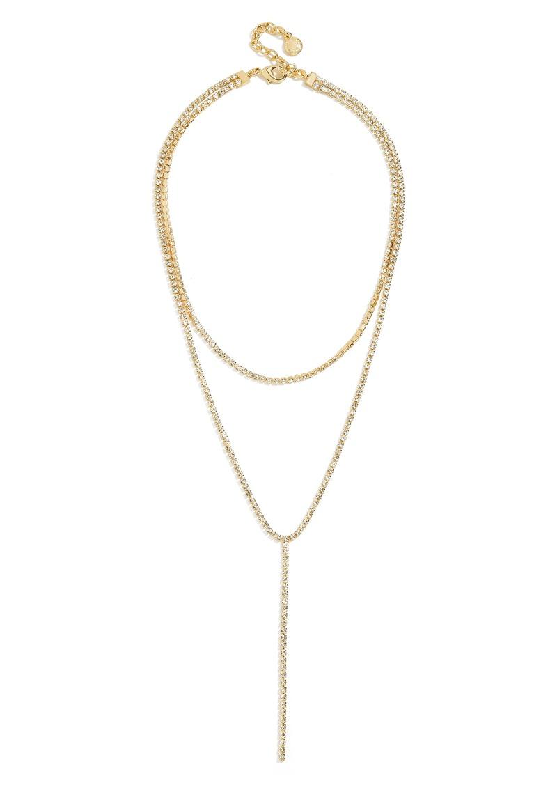 BaubleBar Skyler Layered Y Necklace