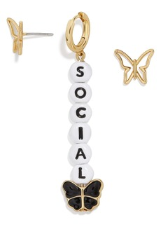 BaubleBar Social Butterfly Mismatched Earrings