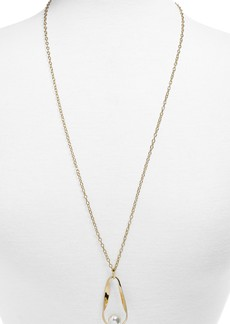 BaubleBar Stasia Imitation Pearl Pendant Necklace