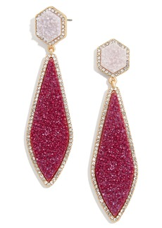 BaubleBar Surboard Imitation Drusy Drop Earrings