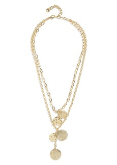 BaubleBar Talia Layered Pendant Necklace