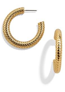 BaubleBar Textured Hoop Earrings