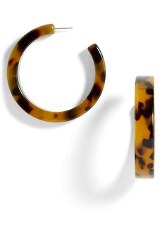 BaubleBar Tortiseshell Hoop Earrings