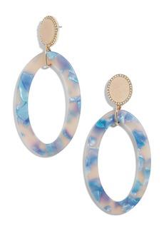 BaubleBar Triana Drusy & Oval Drop Earrings