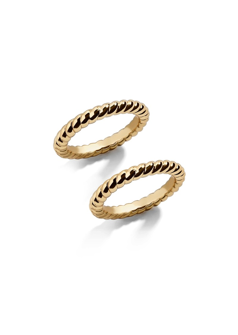 BaubleBar Twist Stacking Ring