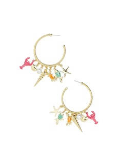BAUBLEBAR Under Sea Charm Hoop Earrings